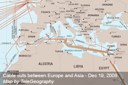 Three Undersea Cables Cuts Cause Significant Disruption in Europe and Asia
