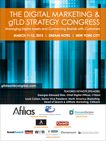 The Digital Marketing & gTLD Strategy Congress Announces Keynote, Speakers, Initial Partnerships