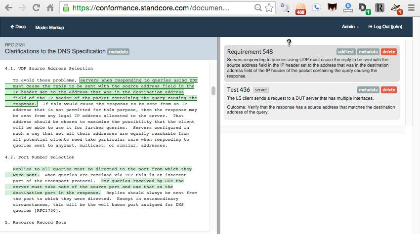 A Free DNS Conformance Test Suite